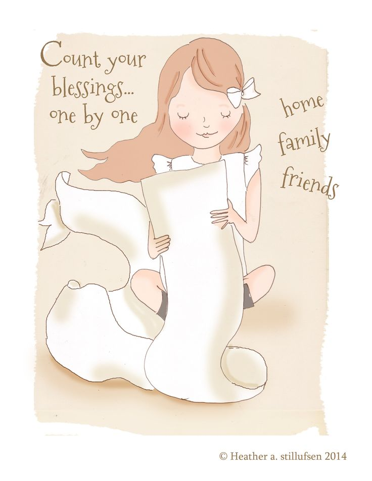 Perfect for girls of all ages...Count Your Blessings One by One....family friends..... Thankful