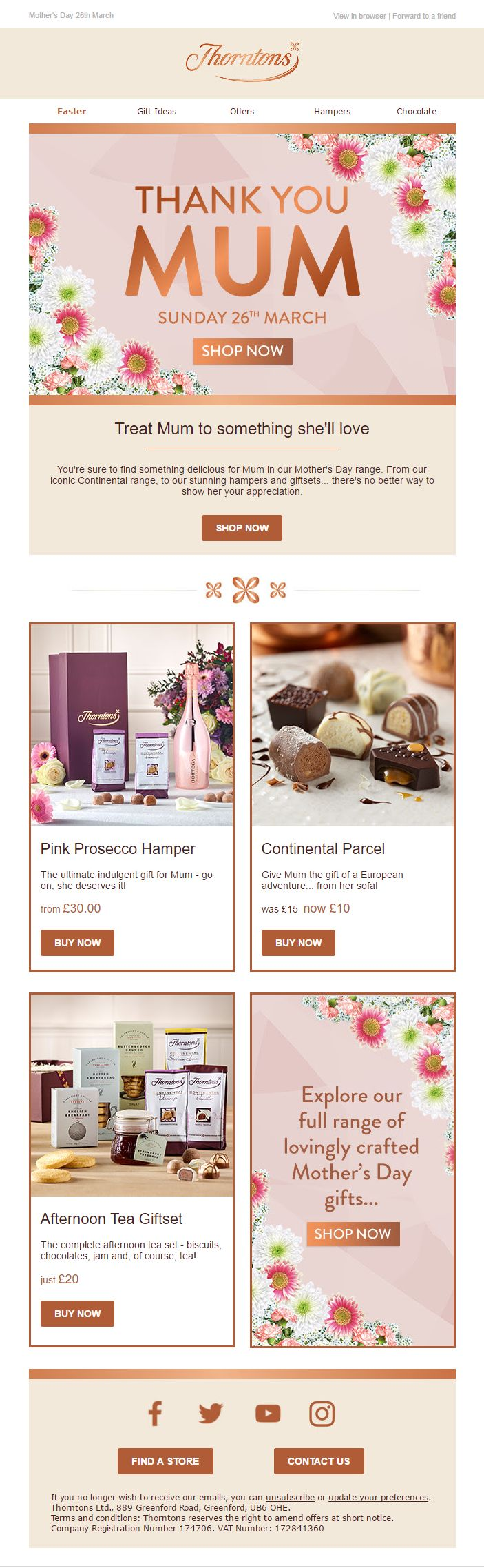 183 best mothers day images on pinterest advertising avon online mothers day email with product recommendations from thorntons emailmarketing email marketing gifts negle Gallery