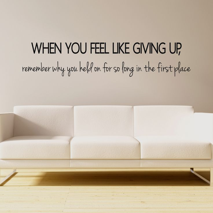 Keep your hopes up with this inspirational wall quote!