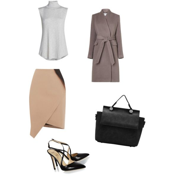 A fashion look from December 2015 featuring sleeveless turtleneck, L.K.Bennett ve wrap skirt. Browse and shop related looks.