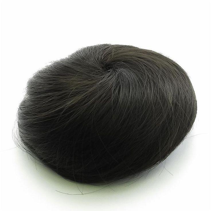 Clip in Messy Hair Extension Bun - Black