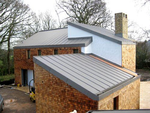 ZInc roof with sleek guttering