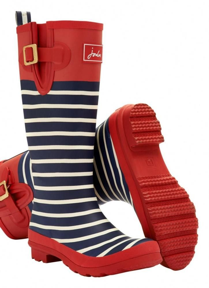 Striking stripes that sing of Joules Wellies country heritage. No matter where you are from farmyards to festivals, Joules Welly Print Red Stripe wellies will make sure you stand out from the crowd. The perfect Joules wellies you can wipe clean that have excellent cold water resistance and tread for grip.