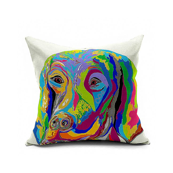 Cotton Flax Pillow Cushion Cover Animal DW077