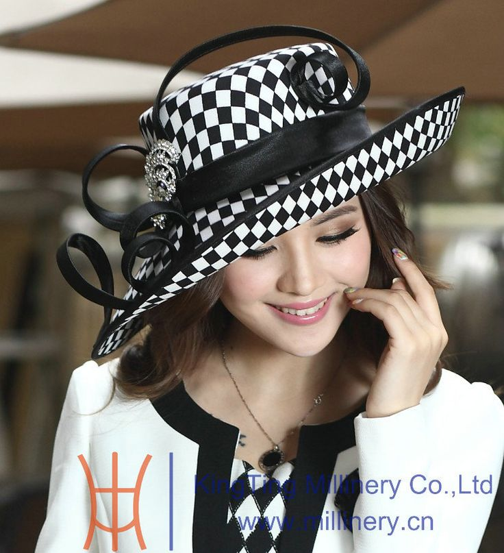 Free Shipping Hot Sale Women Hats for Church Winter Satin Dress Hat Millinery Chapeau Formal Hat for Women Satin Ribbon $46.00