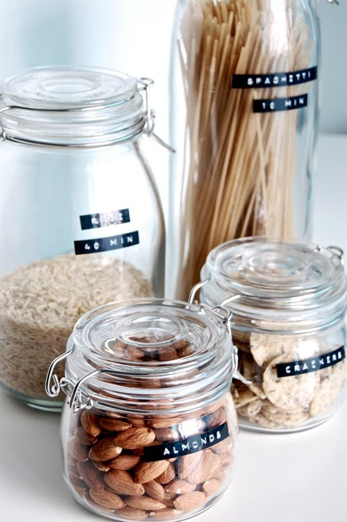 My new obsession - glass jars and stamped out labels - creates a sense of calm!