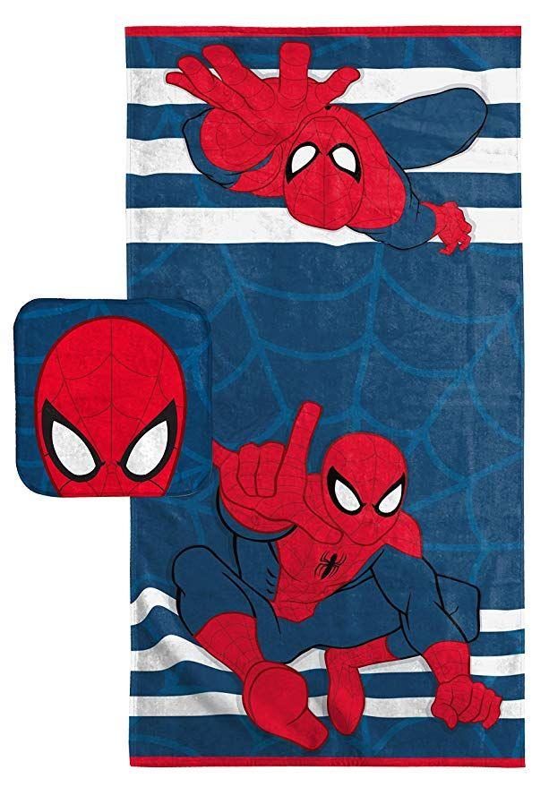 Marvel Spiderman Super Soft Absorbent Kids 2 Piece Bath Towel