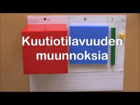 Mittayksiköiden muunnoksia ymmärtäen 6/6: Pinta-ala ja kuutiotilavuus - YouTube
