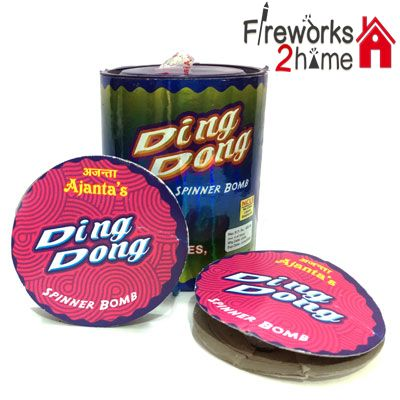 Buy online Ding Dong (Ground Chakkar) with Bomb by Ajanta  -  Fireworks2home.com Ahmedebad  http://www.fireworks2home.com/