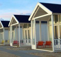 Kust - huisjes op het strand -