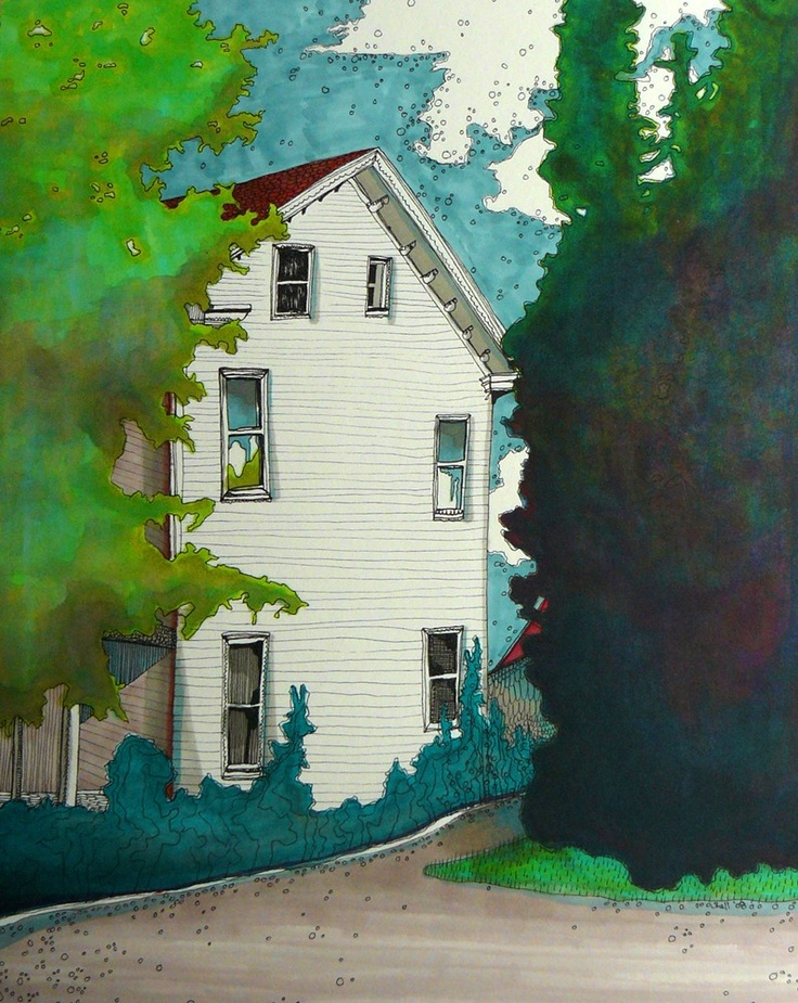 Michelle RaminHousese Art, Painting Art, Michelleramin, Colonial House, Michelle Ramin Lot, White House, Drawing, Michelle Painting, Watercolors Painting