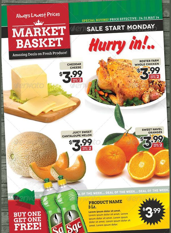 image result for grocery store flyer template free grocery store