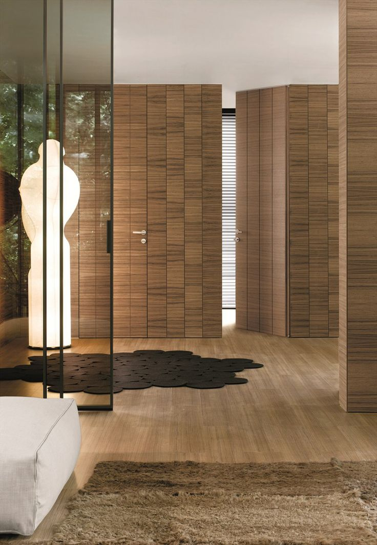 Wooden door CONTINUUM by TRE P & TRE PIÙ | Design Antonio Citterio #wood #interiors