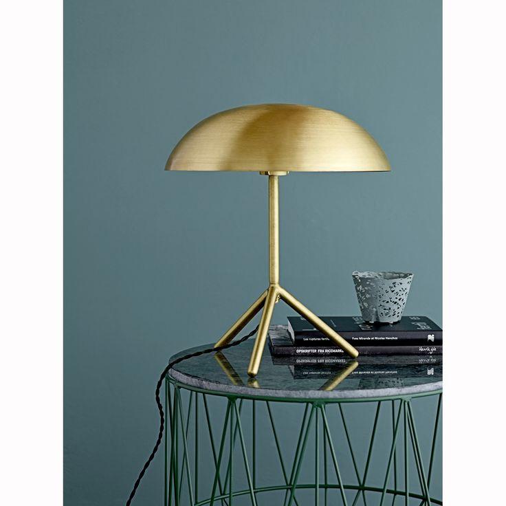 Three table lamp, gold – Bloomingville #interior #design #scandinavian