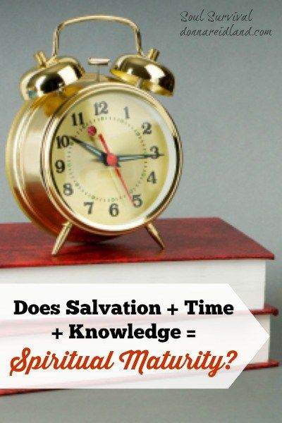 """Does Salvation + Time + Knowledge = Spiritual Maturity?"" (11/9) #salvation #spiritual #maturity #spiritualmaturity #sanctification #spiritualgrowth"