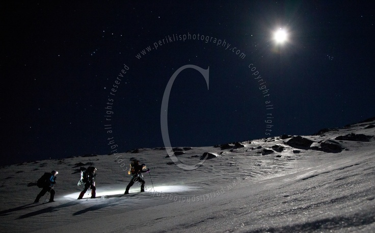 Mountaineering at the night under the moon    www.periklisphotography.com  https://www.facebook.com/PERIKLISPHOTOGRAPHY