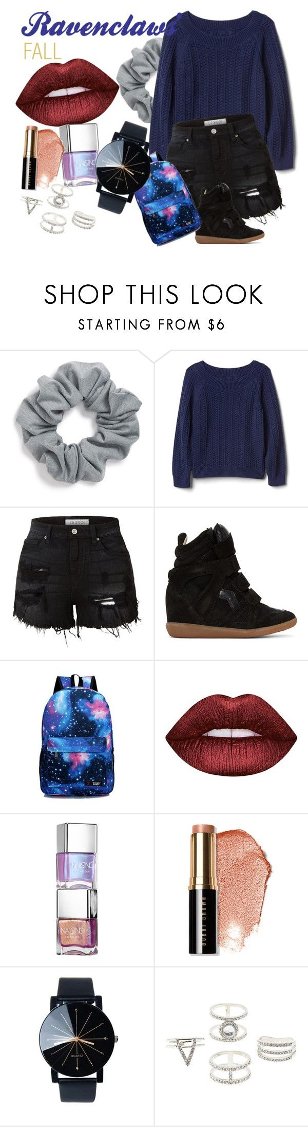"""""""Ravenclaws'FALL"""" by marynavarini ❤ liked on Polyvore featuring Natasha, Gap, LE3NO, Isabel Marant, Lime Crime, Bobbi Brown Cosmetics and Charlotte Russe"""