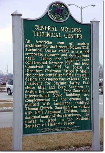 General Motors Technical Center Historical Marker, Warren, MI