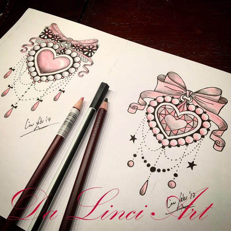 Pink Bow tattoo design , made by Linda Roos, Da Linci Art , Zwijndrecht the Netherlands www.dalinciart.nl #tattoodesign #designtattoo #lace #pinkbowtattoo #pinkbow #pinktattoo #drawing #hart #heart #hearttattoo #pearltattoo #jewel #jewelry #jeweltattoo #bow #bowtattoo #ribbontattoo #tattoo #tattoos #tattooshop #dalinciart #zwijndrecht