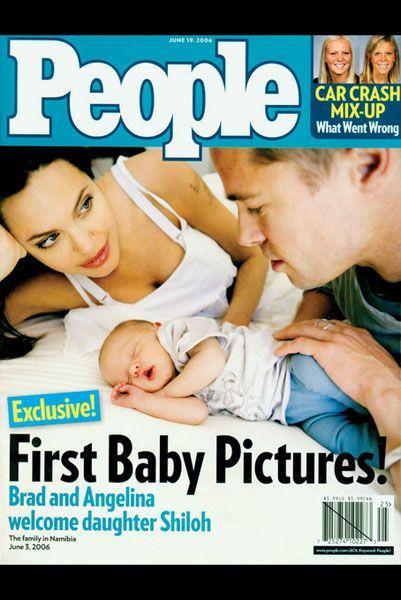 В июне 2006 года журнал «People» заплатил $ 4,1 миллиона за право публикации эксклюзивных фотографий Шило Нувель Джоли-Питт, дочери известной голливудской пары Брэда и Анджелины. Малышка родилась вдали от дома, в Намибии, в Африке. Звездные родители передали деньги в дар одному из благотворительных фондов. Благодаря эксклюзивным фото этот выпуск журнала стал самым продаваемым - 4 миллиона экземпляров.