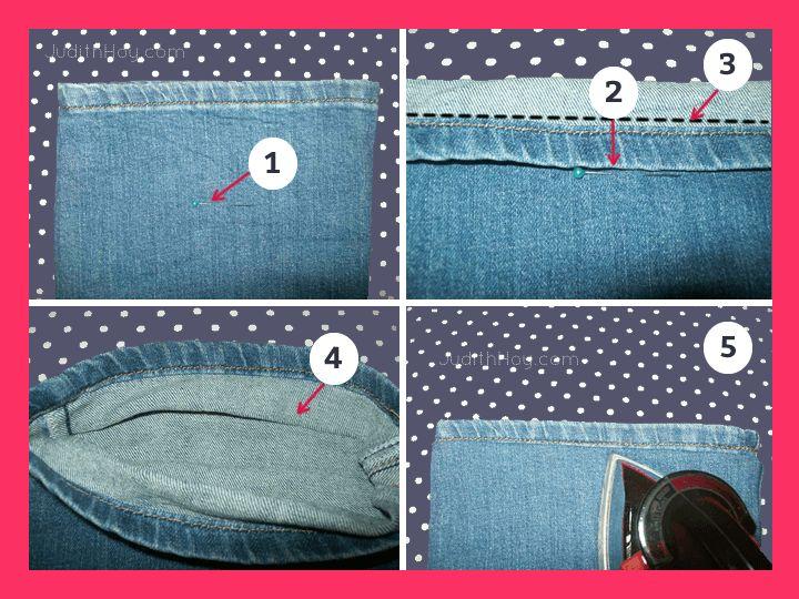 Cómo arreglar el bajo de los pantalones con la costura original