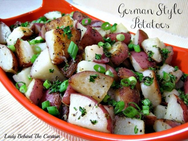 German Style Potatoes | Lady Behind The Curtain