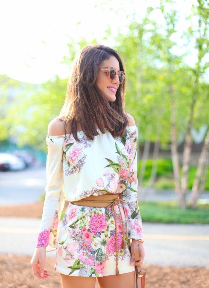 Camila Coelho - Look do Dia: Macaquinho Floral e Flats