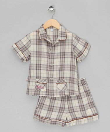 Take a look at this Navy Check Classic Short Pyjamas - Infant, Toddler & Kids by La Piyama on #zulily today!