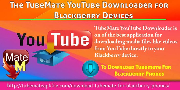 TubeMate YouTube Downloader is on of the best application for downloading media files like videos from YouTube directly to your Blackberry device. This application enables you to watch the saved videos whenever and wherever you want to.