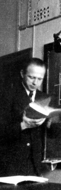 Werner Heisenberg bei einer Vorlesung in Leipzig, 1928