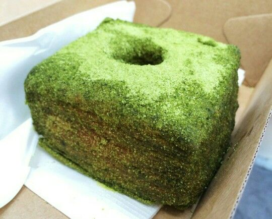 Matcha cronut with azuki beans filling. I want one NOW