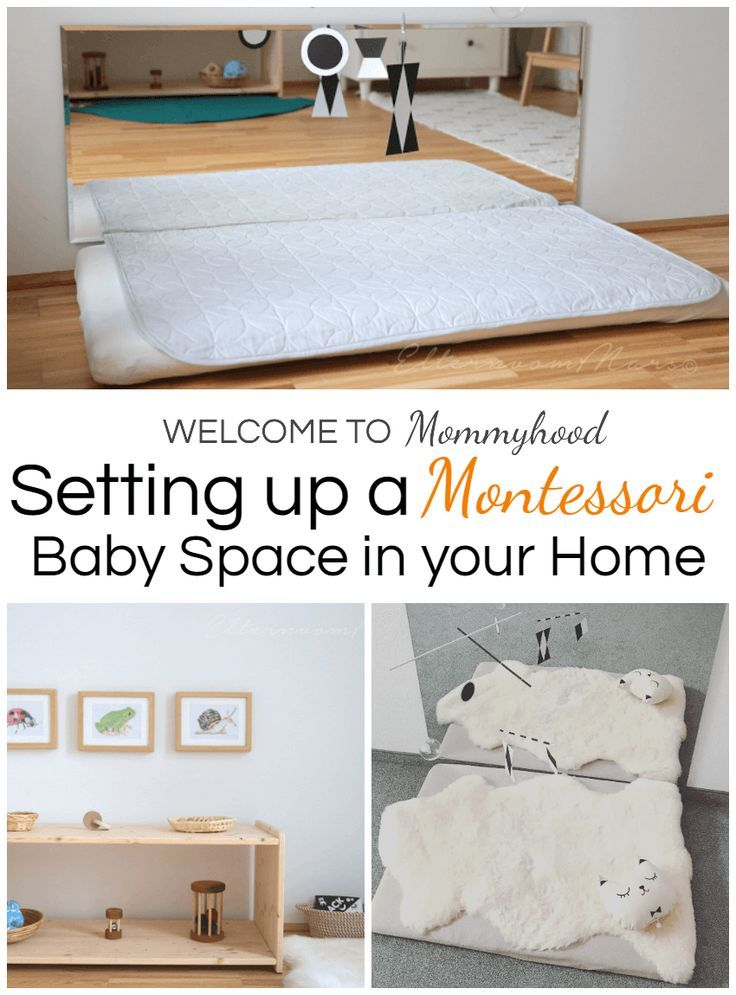 Montessori baby spaces: learn about how to set up a Montessori baby space.