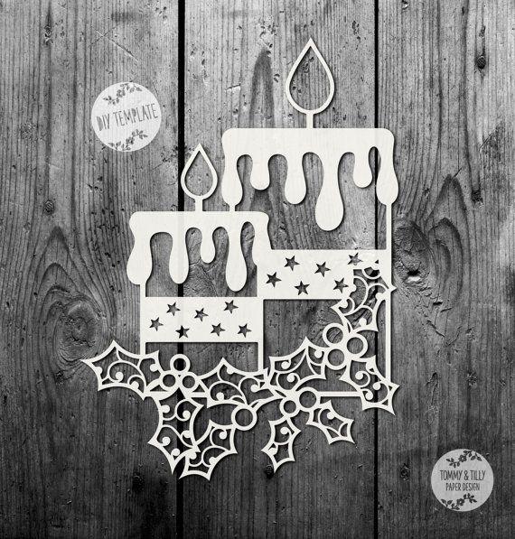 SVG / PDF Candles Design by TommyandTillyDesign on Etsy