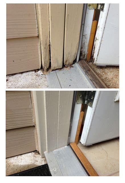 Exterior Door Threshold Repaired Door Jam Trim