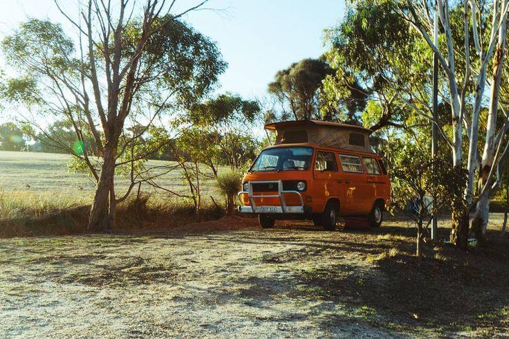 Take me back  . . . #bettysvanventures #roadtripadventures #wandervictoria #vanagon #vanlifediaries #vanlife #vwaustralia #vwvan #trakka #vwt25 #slowwideturns#greatoceanroad #australia #australie by aureliebettys