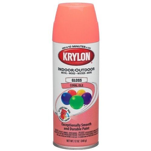 Krylon 12 Oz Coral Isle Gloss Indoor & Outdoor Spray Paint 52103  (Set of 6)