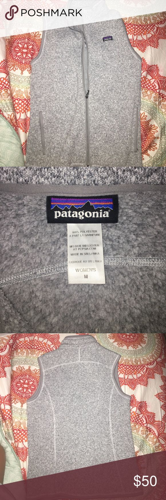 Women's Patagonia gray vest Patagonia Better Sweater Vest - Women's Size medium. Color (birch white), excellent condition only worn twice. Patagonia Jackets & Coats Vests