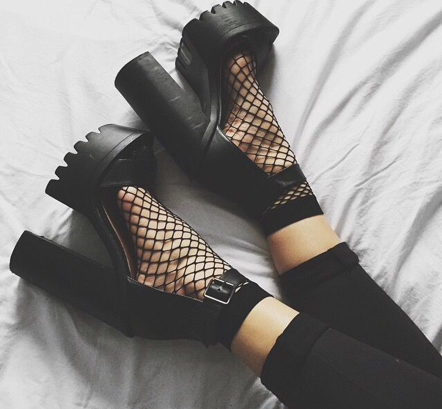 Fishnets and platforms