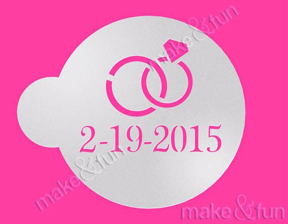 Personalized Stencil,Wedding Cookie Stencil, Cake stencil, Custom Stencil, Save the date by makeandfun on Etsy https://www.etsy.com/listing/246823533/personalized-stencilwedding-cookie