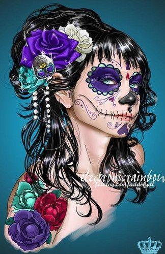 * L A * C A T R I N A  * : Muy Tilica y Flaca  [b]Catrinas[/b] (Parodias de la mujeres mexicanas de la clase alta).   [b]Calaveras[/b] (Representadas por mascaras y comidas como   calaveras de dulce, azúcar y chocalate)   [b]Calaveras Literarias Popular[/b] (Es una forma de expresión a   la muerte, con un carácter de sátira, se escriben sobre personajes   conocidos en la sociedad.  [b]Calacas[/b] (Calaveras o esqueletos)    Tambien es Representacion  a la Muerte..  po