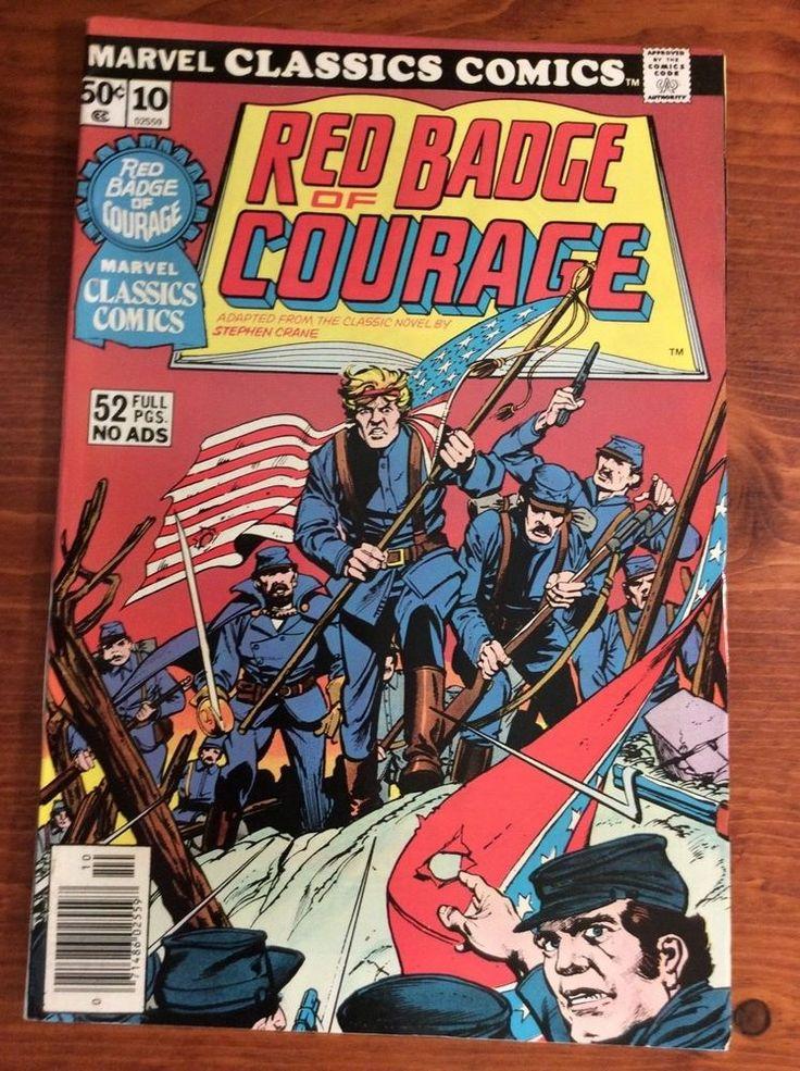 Marvel Classics Comics 10 Red Badge of Courage 1976 lot