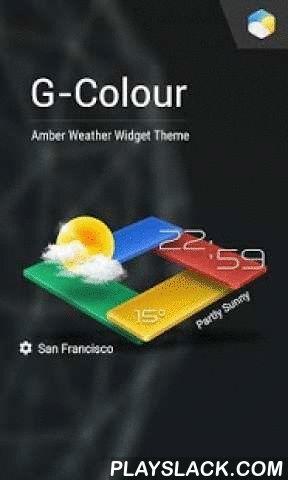 3D G-Color Live Weather Widget  Android App - playslack.com ,  3D G-Color Live Weather Widget is een volledig uitgeruste applicatie voor aanpasbare digitale klok en weerbericht. De applicatie beschikt over het volgende: - 3 widget groottes, 1x1, 4x1 en 4x2- Vele skins die je voor elke widget kan kiezen- Verschillende weericoon-skins - Verschillende fonts voor de tijd - Automatische locatie (van mobiele telefoon/wifi of GPS) of handmatig (gespecificeerd door de gebruiker) - Wereldweer en…