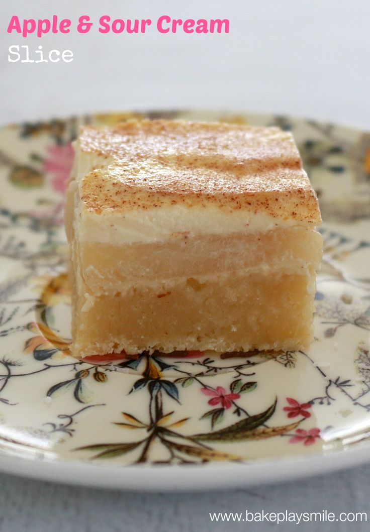 scroll down for Thermomix recipe tips: Apple & Sour Cream Bars