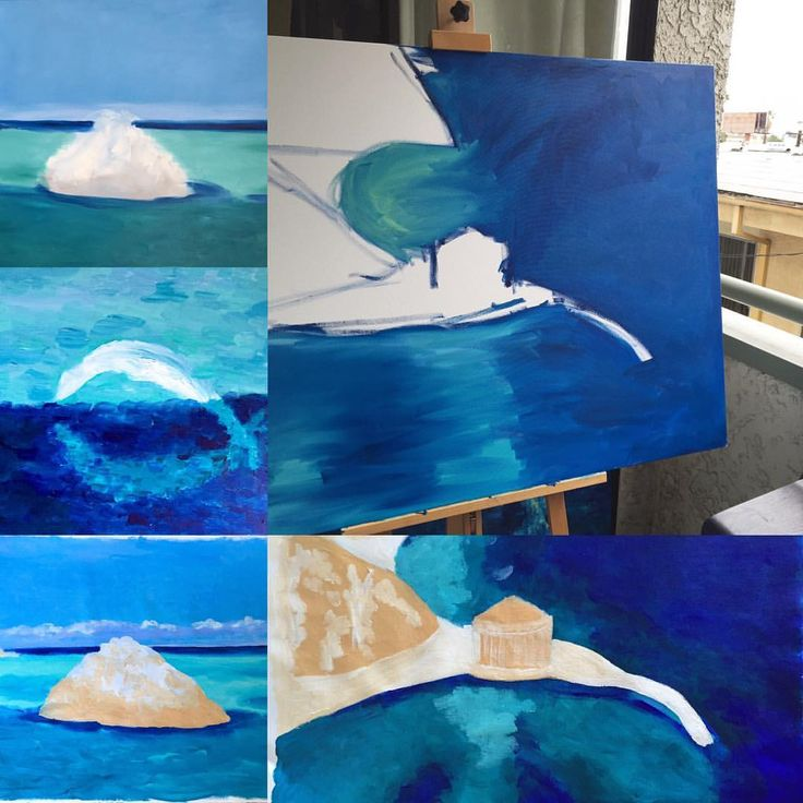 I have been working on these paintings over the last week preparing for the TV Show Colour in your Lifefor current episodes click here. The two rocks in the water will have a sea lion basking in t…