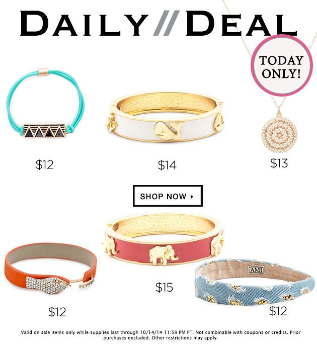 Today Only! Daily Deal $12-15 https://commonsensejewelry.kitsylane.com/join/ . Better check it out before it's all gone !