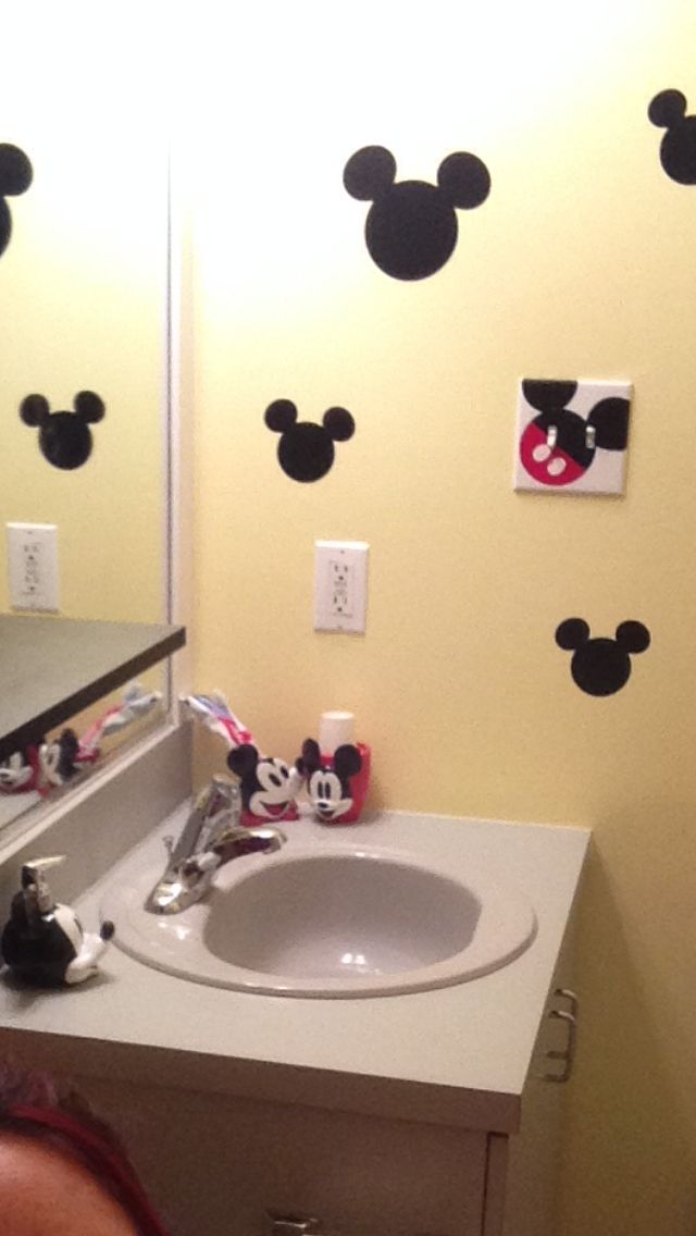 mickey mouse bathroom decor girls bathroom pinterest