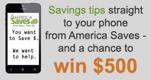 You Could Win $500 by Signing Up for Text Messages from America Saves
