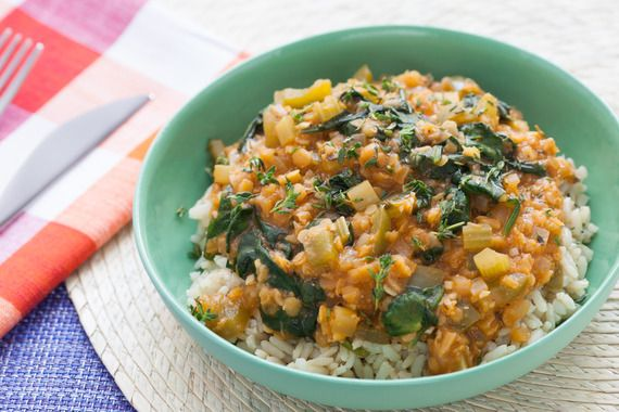 Louisiana-Style Red Lentils with Brown Rice #MeatlessMonday