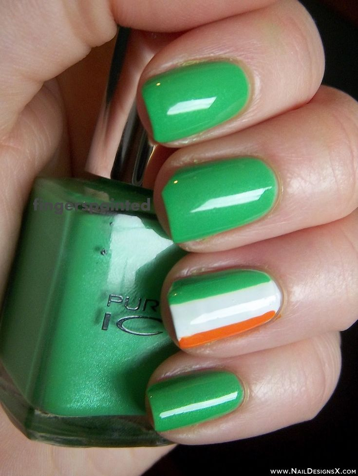 green week irish flags nail art - Nail Designs & Nail Art