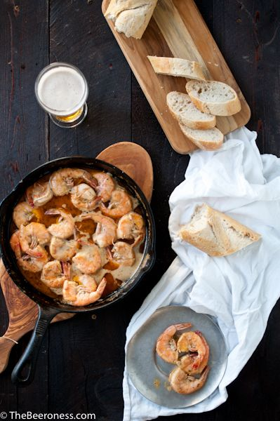 New Orleans Barbecue Beer Shrimp recipe from The Beeroness